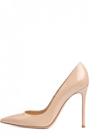 Лаковые туфли Business на шпильке Gianvito Rossi. Цвет: бежевый