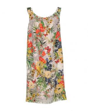Короткое платье IVAN MONTESI. Цвет: голубиный серый
