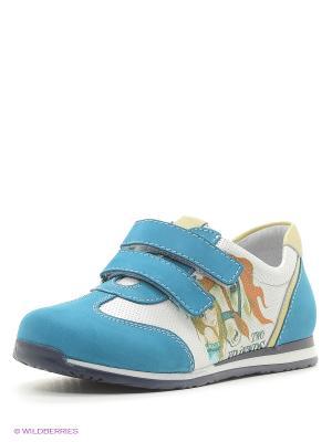 Ботинки ELEGAMI. Цвет: голубой
