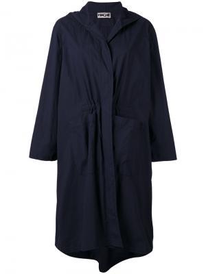 Однобортное пальто Hache. Цвет: синий