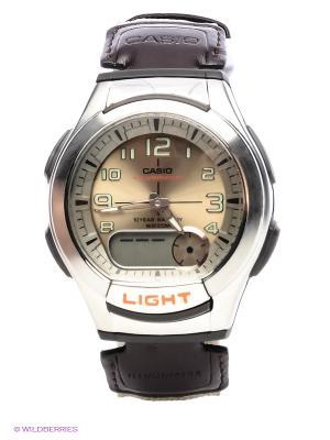 Часы AQ-180WB-5B CASIO. Цвет: бронзовый, коричневый, серебристый