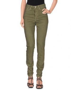 Джинсовые брюки J-CUBE. Цвет: зеленый-милитари