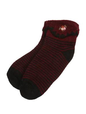 Носки Зувей. Цвет: бордовый