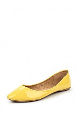 Балетки Betsy. Цвет: желтый