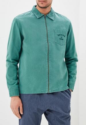 Куртка джинсовая Quiksilver. Цвет: зеленый