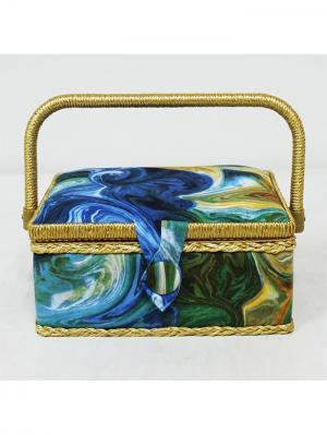 Шкатулка 18х23х11 см, BN4749 Grace&Glamour. Цвет: зеленый, белый, синий