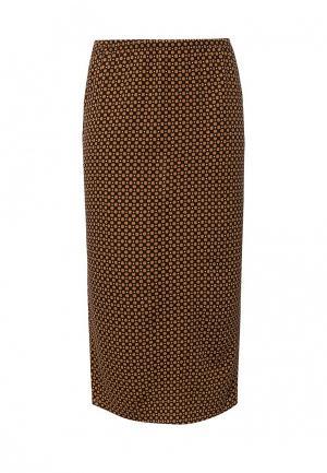 Юбка W&B. Цвет: коричневый