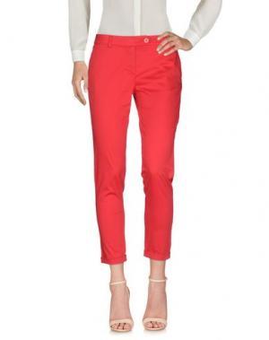 Повседневные брюки ANDREA MORANDO. Цвет: красный
