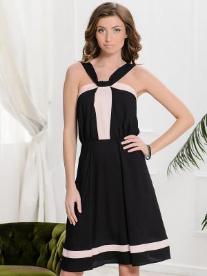 Сарафан Yulia Dushina. Цвет: черный, персиковый