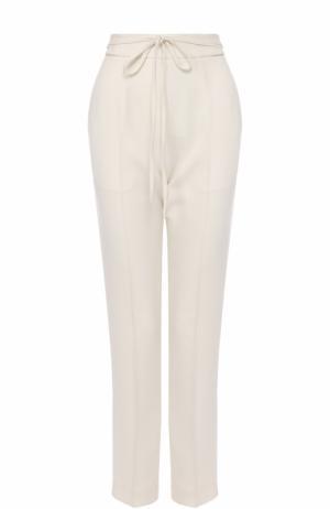 Укороченные брюки с завышенной талией T by Alexander Wang. Цвет: бежевый