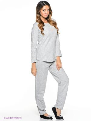 Пижама Vienetta Secret. Цвет: серый меланж