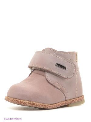 Ботинки Зебра. Цвет: бледно-розовый