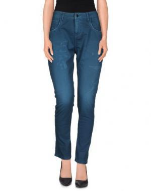 Повседневные брюки MANILA GRACE. Цвет: цвет морской волны