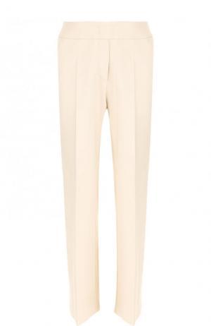 Однотонные расклешенные брюки со стрелками Windsor. Цвет: кремовый