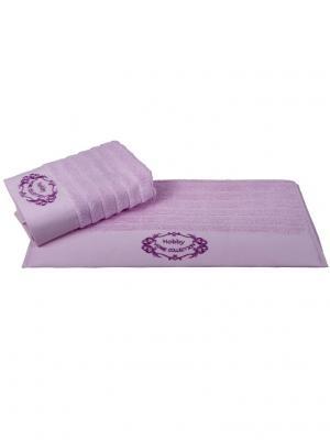 Махровое полотенце 50x90 ZAFIRA розовый,100% хлопок HOBBY HOME COLLECTION. Цвет: розовый