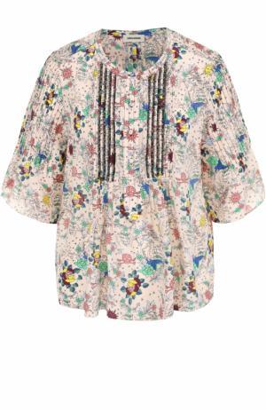 Шелковый топ свободного кроя с цветочным принтом Zadig&Voltaire. Цвет: разноцветный