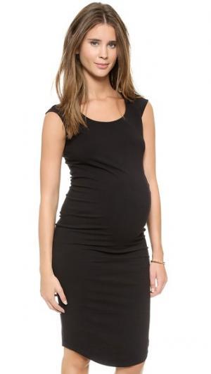 Платье для беременных с цельнокроеными рукавами MONROW. Цвет: голубой