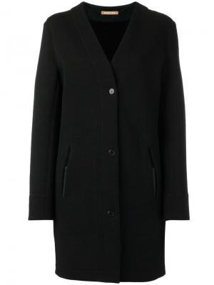 Однобортное пальто Nehera. Цвет: чёрный