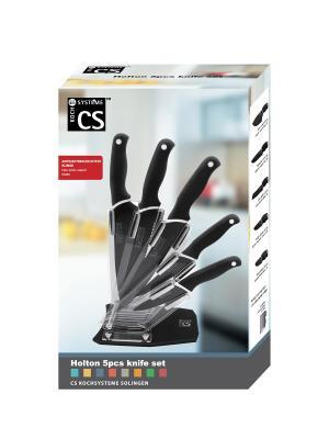 Блок ножей HOLTON из нержавеющей стали, 6 предметов в подарочной коробке, Koch Systeme. Цвет: черный