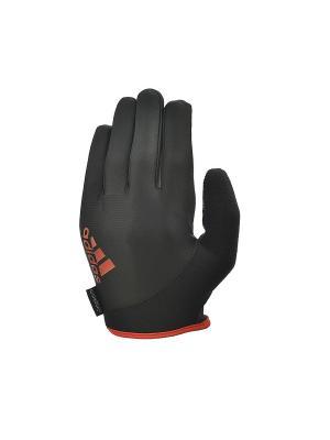 Перчатки для фитнеса (с пальцами) Adidas Essential черно\красные размер S. Цвет: черный