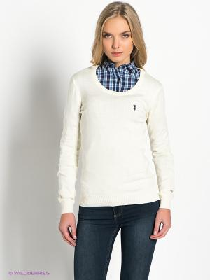 Джемпер U.S. Polo Assn.. Цвет: кремовый