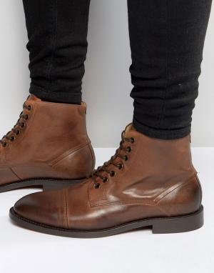 Hudson London Кожаные ботинки Seymour. Цвет: рыжий