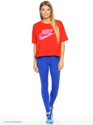 Футболка W NSW SIGNAL TOP CROP Nike. Цвет: красный