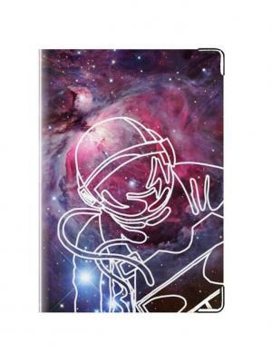 Обложка для паспорта Kocмического Туриста Tina Bolotina. Цвет: темно-фиолетовый, фуксия