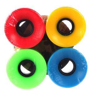 Колеса для скейтборда лонгборда  Multi Wheels Blue/Green/Red/Yellow 79A 59 mm Penny. Цвет: красный,зеленый,желтый,синий