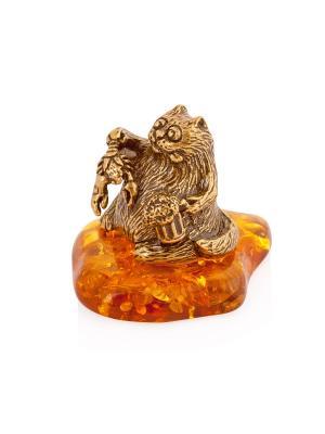 Фигура Кот - рак Aztek. Цвет: желтый, коричневый, светло-оранжевый