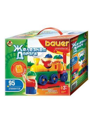 Конструктор Bauer серии Железная дорога 95 эл. (в коробке) 24/24. Цвет: зеленый