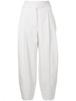 Зауженные к низу брюки Papina Nehera. Цвет: белый