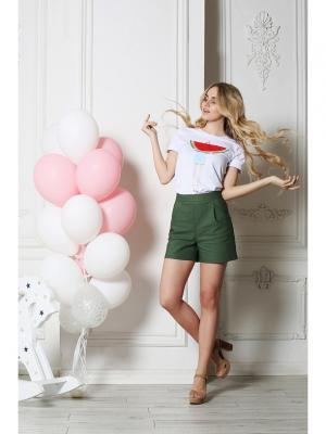 Шорты Fashion.Love.Story.. Цвет: зеленый
