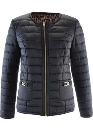 Двухсторонняя куртка (черный/леопардовый) bonprix. Цвет: черный/леопардовый