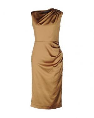 Платье до колена BOURNE. Цвет: зеленый-милитари