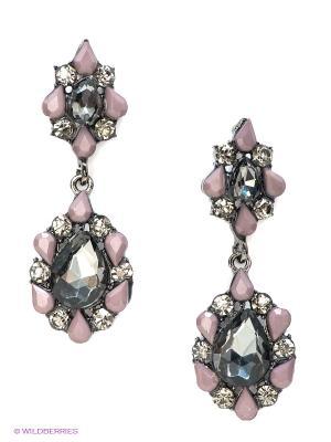 Серьги Lovely Jewelry. Цвет: серебристый, розовый