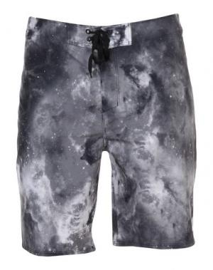 Пляжные брюки и шорты HURLEY. Цвет: серый