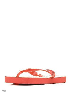 Шлепанцы Mon Ami. Цвет: красный