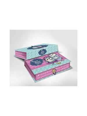 Подарочная коробка СОВЯТА S Magic Home. Цвет: голубой, розовый