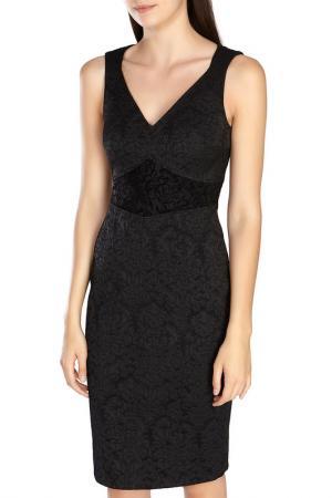 Короткое платье без рукавов Karen Millen. Цвет: black