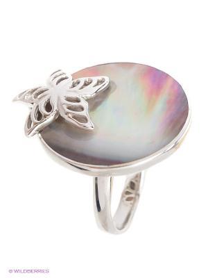 Кольцо BALEX. Цвет: серебристый, серо-коричневый