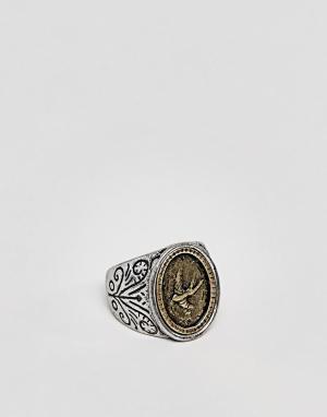 Classics 77 Серебристое кольцо с узором. Цвет: серебряный