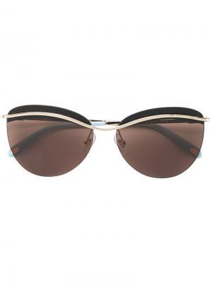 Солнцезащитные очки кошачий глаз Tiffany & Co.. Цвет: коричневый