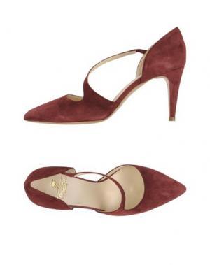 Туфли PREZIOSO. Цвет: красно-коричневый