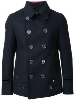 Двубортная куртк Loveless. Цвет: чёрный
