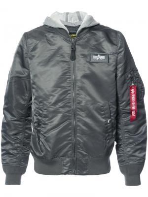L-2B bomber jacket Alpha Industries. Цвет: серый