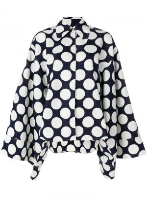 Блузка в горох A.W.A.K.E.. Цвет: синий