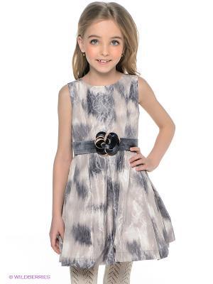 Платье Wojcik. Цвет: бежевый, серый