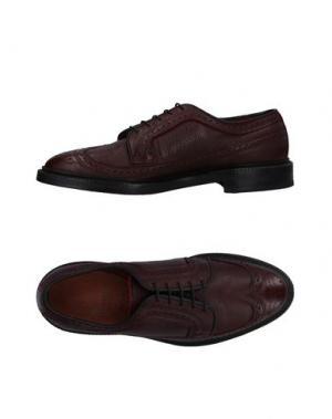 Обувь на шнурках ALLEN EDMONDS. Цвет: красно-коричневый