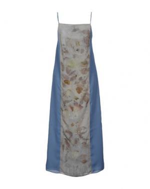 Длинное платье MAISON LAVINIATURRA. Цвет: пастельно-синий